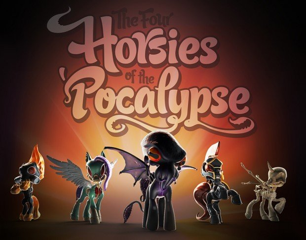 the 4 horsies of the pocalypse by bigshot toyworks 620x486