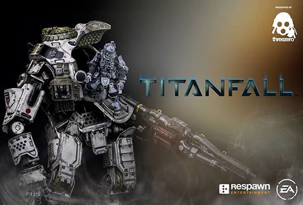titanfall atlas and pilot action figures by threezero