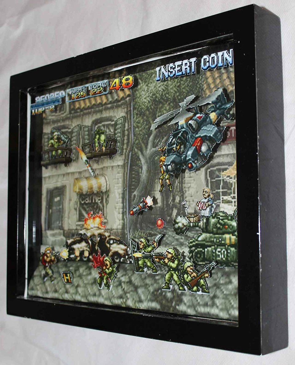 Classic Video Game Paper Dioramas 3d Tinted Glasses
