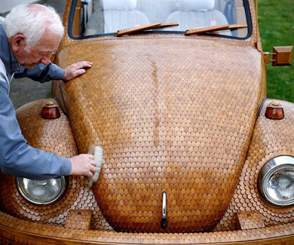Wood Volkswagen Bug: Beetle vs. Termites