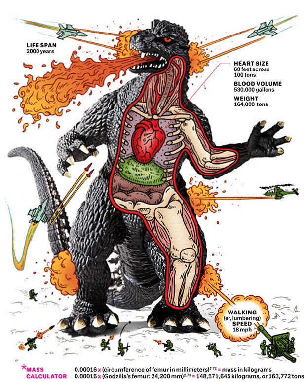 Godzilla Anatomical Infographic Reveals He Has Heart… 100 ...