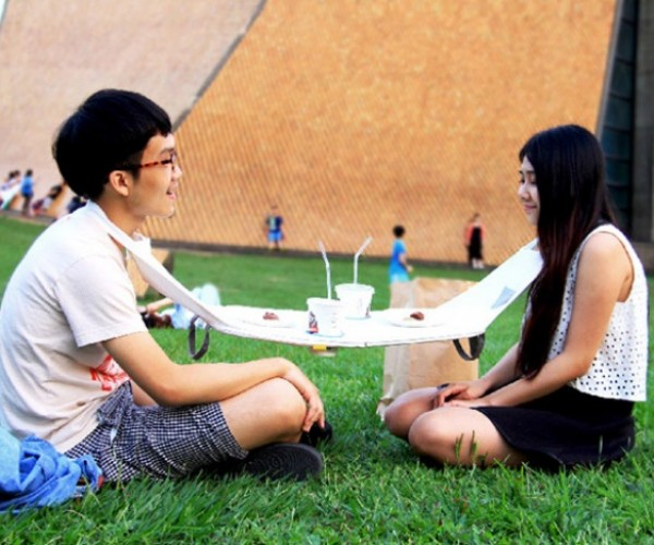 The Napkin Table: A Table for Two on the Go