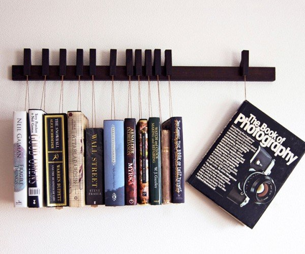 Hanging Book Rack: Hang 'Em and Read 'Em