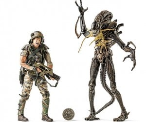 Hudson vs Shot-up Alien Action Figures Show the Game is not Over, Man.