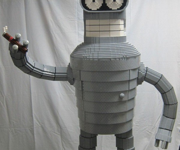 LEGO Bender with Chest Cavity for Booze Storage