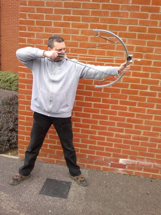 bike wheel bow