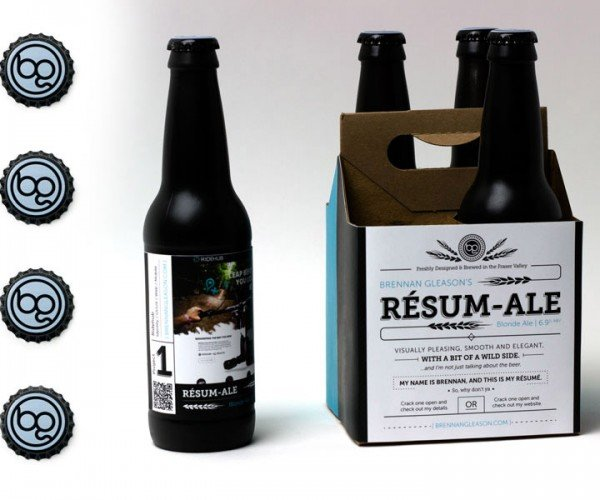 Guy Sends out Custom Brewed and Packaged Beer as Resume: You're Hired!