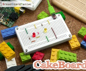 CakeBoard Breadboard Lets You Test Electronics, Circuits & LEGO