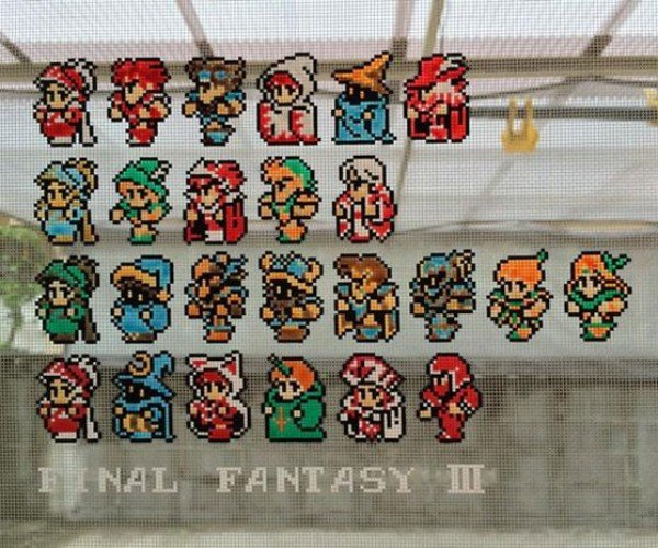 Final Fantasy III Screen Door Pixel Art: Mesh for Fantasy