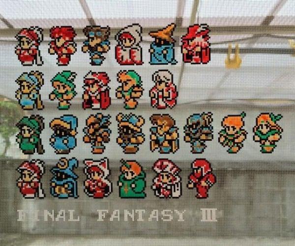 Final Fantasy III Screen Door Pixel Art: Mesh for Fantasy