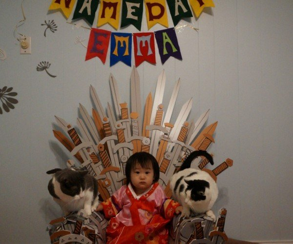 One-year-old Wins the Iron Throne at Birthday Party