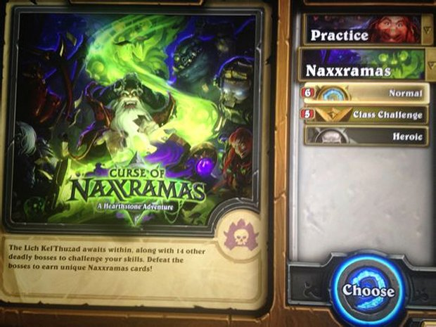 hearthstone curse of naxxramas leak