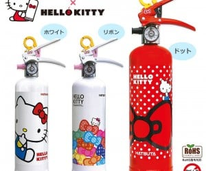 Hello Kitty Fire Extinguishers: Sanrio Fire Department