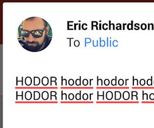 Hodor Keyboard Android App: HODOR
