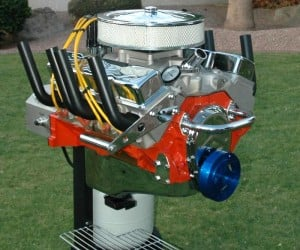 V-8 Engine BBQ Grill: Now We're Cooking with Gas!