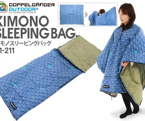 Kimono + Sleeping Bag = Kimono Sleeping Bag