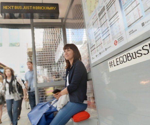 This London Bus Stop Is Made of 100,000 LEGO Bricks