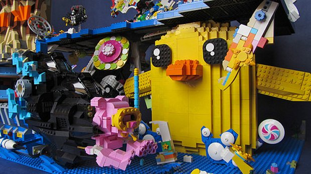 Cloud Cuckoo Land from The LEGO Movie Recreated in LEGO