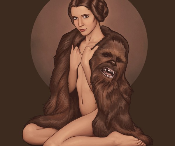 Princess Leia Wears a Chewbaccoat