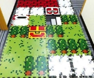 Turn Any Floor into an 8-bit Video Game Map with These Tiles