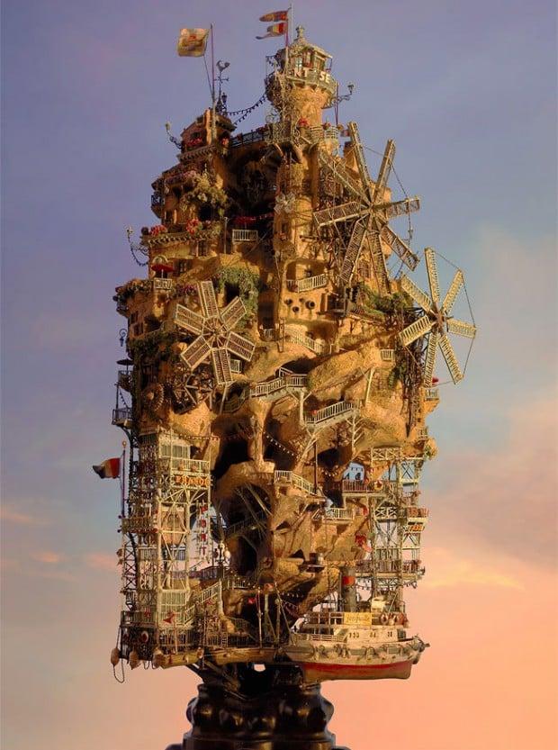 miniature structures Taknori Aiba 3 620x833