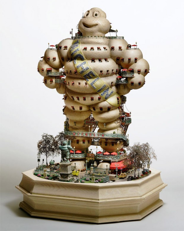 miniature structures Taknori Aiba michelin man 1 620x778