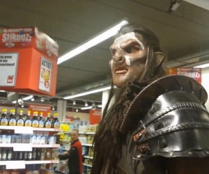Uruk-Hai Orc Goes Grocery Shopping