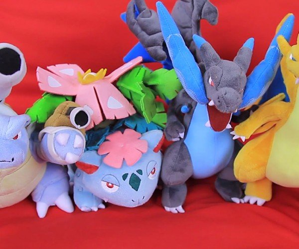 Pokémon Center Mega Evolution Plush Toys Don't Need Mega Plush Stones