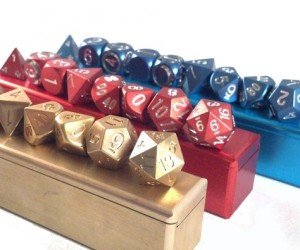 Precision Machined Polyhedral Metal Dice: High Rollers