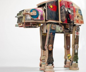 AT-AT Made from Skateboards: Sustainably Harvested from the Endor Forest
