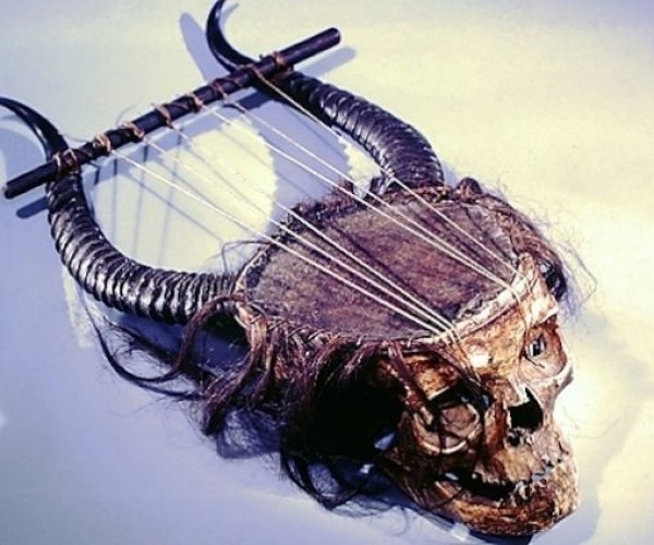 This Lyre is Made from a Human Skull