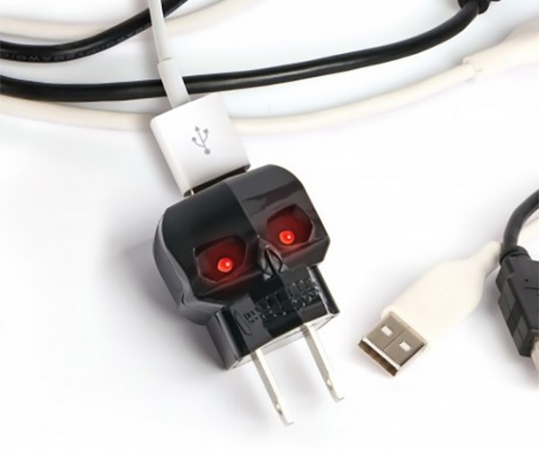 Black Skull USB Charger Won't Kill Your Gadgets