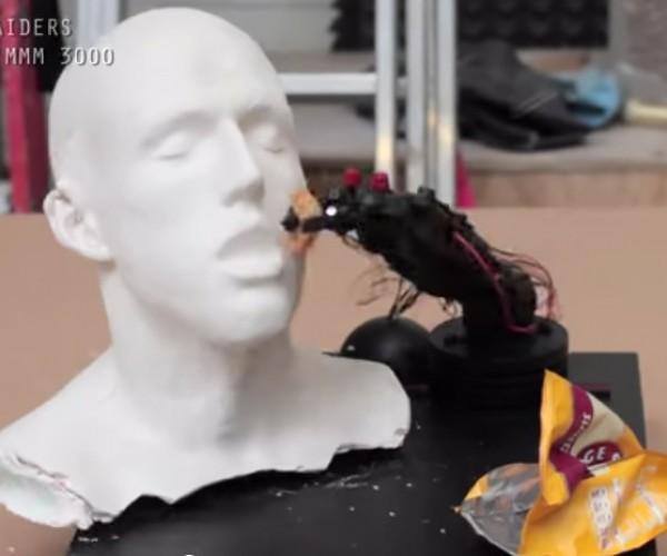 Hands-free Snacking Robot Arm: More Like a Hands-free Slapping Robot Arm