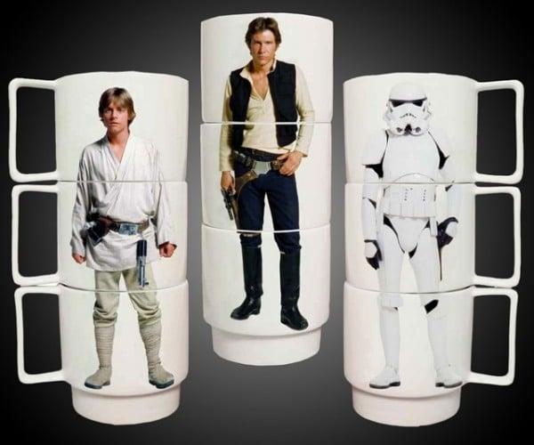 Star Wars Stacking Mugs Let You Make Han Skytrooper