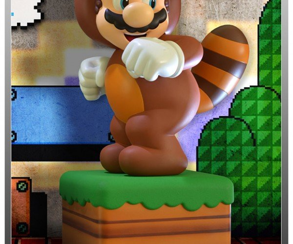 Super Mario Tanooki Suit Jumbo Figure Stands 15″ Tall, Sadly Doesn't Fly