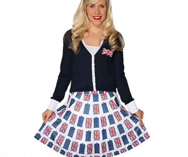 TARDIS Union Jack Skirt: More British on the Outside