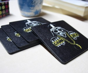 Darth Vader Coasters: Keep The Dark Side from Staining Your Table