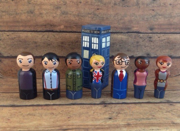Deluxe 20 Piece Doctor Who Peg People Playset2