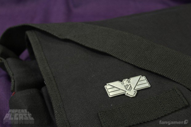 Papers Please Arstotzka Inspector Pin by Fangamer 4 620x413