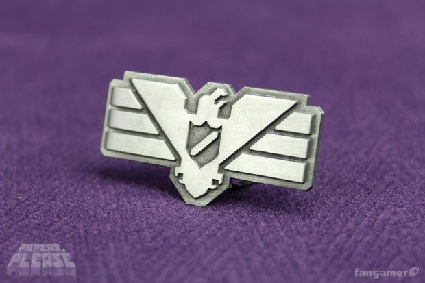 Papers Please Arstotzka Inspector Pin by Fangamer 620x413