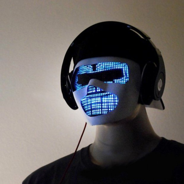 Sound Reactive LED DJ Mask