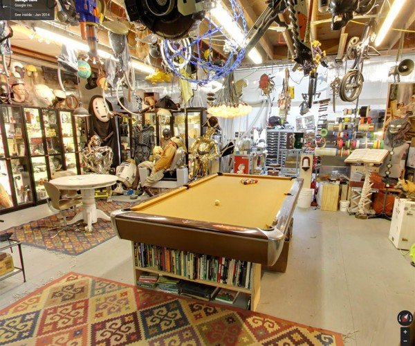 Adam Savage's Awesome Man Cave Hits Google Street View