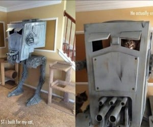 Custom Star Wars AT-ST Cat Playhouse: Return of the Kitt-i