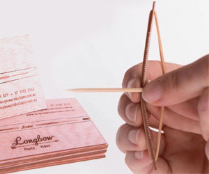 World's Coolest Business Cards Turn into a Tiny Longbow