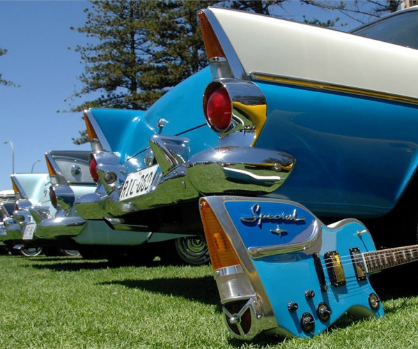 These Custom Guitars are made from Classic Car Parts