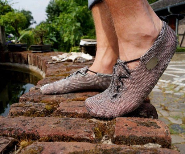 Chainmaille Running Shoes: Armor for Your Feet