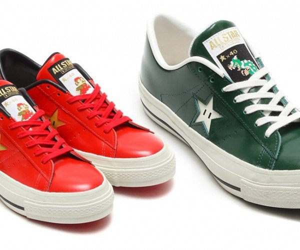 Converse Super Mario Shoes 1-up Your Feet