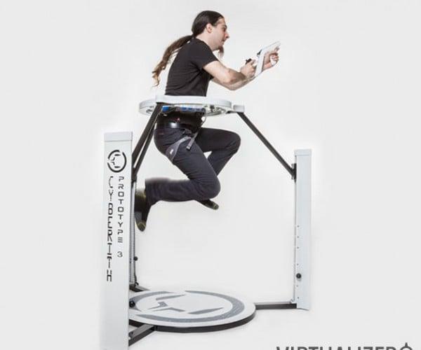 Cyberith Virtualizer VR Treadmill Virtually Funded on Kickstarter
