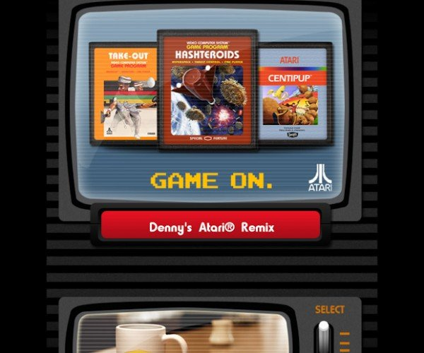 Denny's Teams up with Atari: Grand Slam 2600