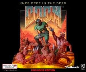 Doom Knee Deep in the Dead Diorama: 3D Cover Art